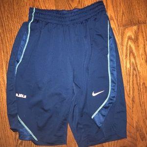 Blue nike elite men's shorts.